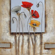 Revealed Art Poppies for You II Original Painting on Wrapped Canvas