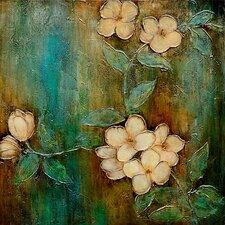 Revealed Art Dogwood Dream II Original Painting on Wrapped Canvas