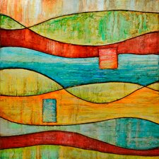 Revealed Art Color and Line VI Original Painting on Wrapped Canvas