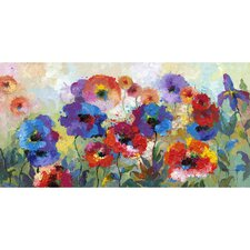 Revealed Artwork Flower Garden Original Painting on Wrapped Canvas