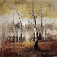 Revealed Artwork Autumn Mist Original Painting on Wrapped Canvas