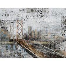 Revealed Artwork Across The Bridge Graphic Art on Wrapped Canvas