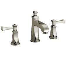 Two Handle Widespread Deck Mount Lavatory Faucet with Pop-Up Drain
