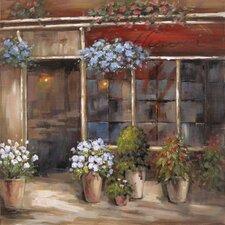 Revealed Artwork Flower Shoppe Original Painting on Wrapped Canvas