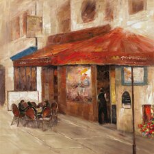 Revealed Artwork Outdoor Dining I Original Painting on Wrapped Canvas