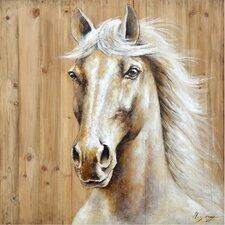 Revealed Artwork Equine Profile I Original Painting on Wrapped Canvas