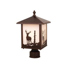 Yellowstone Deer 1 Light Outdoor Post Light