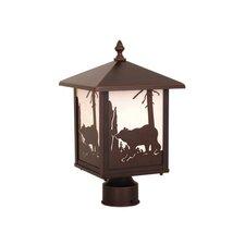 Yellowstone Bear 1 Light Outdoor Post Light