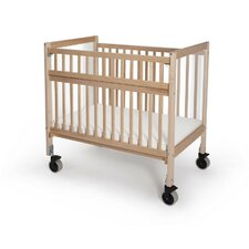 Clear View Folding Rail Evacuation Convertible Crib with Mattress