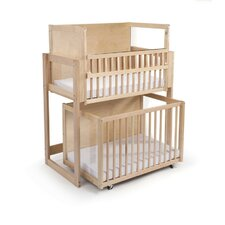 Space Saver 2 Level Convertible Crib with Mattress
