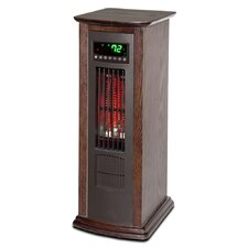 Lifelux 1500 Watts Air Commander All Season Infrared Wood Infrared Tower Heater and Fan with Remote