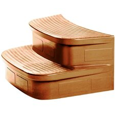 LifeSmart Luna Spa Curved Spa Steps in Sandstone
