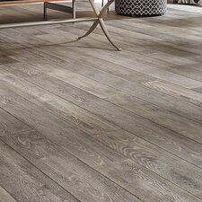 "Antigua 7"" White Oak Hardwood Flooring in Silver"