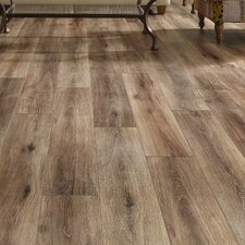 "Restoration™ Wide Plank 8"" x 51"" x 12mm Laminate in Brushed Coffee"