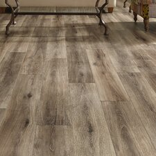 "Restoration™ Wide Plank 8"" x 51"" x 12mm Laminate in Brushed Gray"