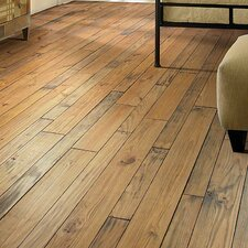 Elements Random Width Solid Pine Hardwood Flooring in Fossil