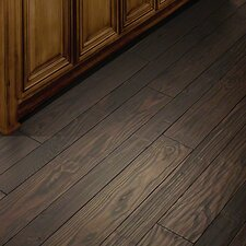 Elements Random Width Solid Pine Hardwood Flooring in Lava