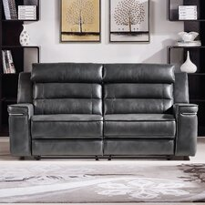 Duncan Leather Dual Reclining Sofa