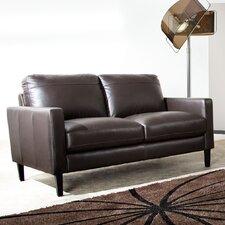 Omega Full Leather Loveseat