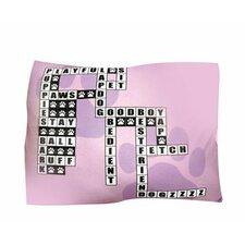 Rectangle Crossword Puzzle Dog Pillow