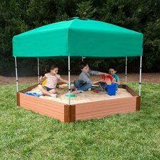 8' W Hexagon Sandbox with Cover