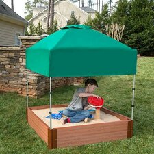 Composite 4 ft. W Square Sandbox Kit with Cover