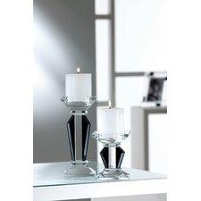 Deco 2 Piece Crystal Candleholder