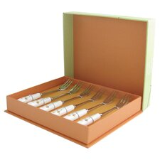 Daisy Chain Bone China Pastry Fork Set
