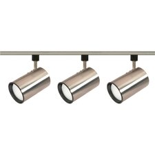 3 Light Straight Cylinder Full Track Lighting Kit