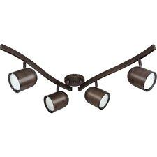 4 Light R30 Swivel Full Track Lighting Kit