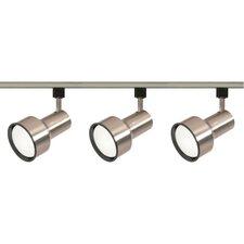 3 Light Step Cylinder Full Track Lighting Kit
