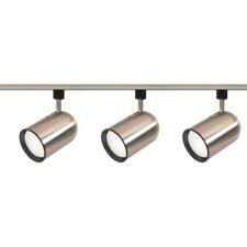 3 Light Bullet Cylinder Full Track Lighting Kit