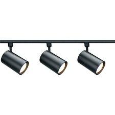 3 Light Straight Cylinder Full Track Lighting Kit