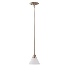 EmpireMini Pendant with Frosted White Glass in Brushed Nickel