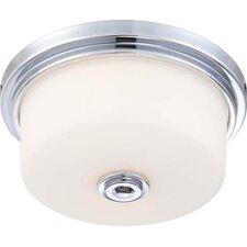 60-4591 Soho Flush Mount Ceiling Light, Polished Chrome