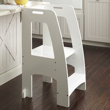 Household Helper 2-Step Manufactured Wood Step Up Kitchen Step Stool with 200 lb. Load Capacity