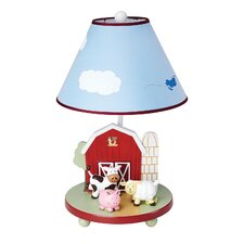 "Farm Friends 19"" H Table Lamp with Empire Shade"