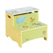Savanna Smiles Kids Stool with Storage Compartment