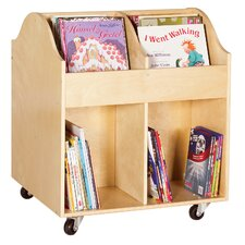 Rounded Edges Book Display Cart