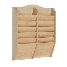 12 Pocket Magazine Rack