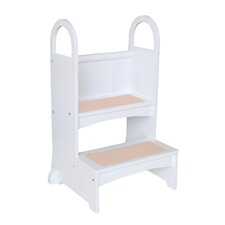 Household Helpers 2-Step Manufactured Wood High Rise Up Step Stool with 200 lb. Load Capacity