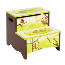 Jungle Party Kids Stool with Storage Compartment