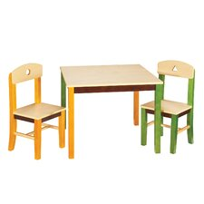 See and Store Kids 3 Piece Rectangle Table and Chair Set