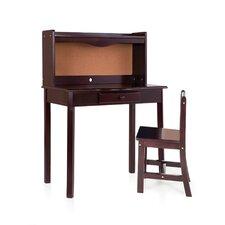 "27"" W Writing Desk with Hutch"