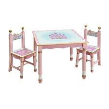 Princess Kids' 3 Piece Table and Chair Set