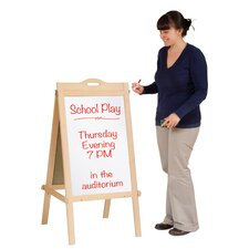 Classroom Furniture Message Free-Standing Chalkboard, 4' H x 2' W