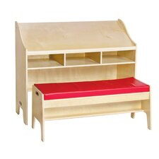"Classroom Furniture 42"" W Desk with Bench"