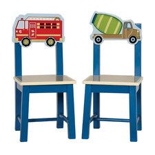 Moving All Around 2 Piece Kids Desk Chair Set (Set of 2)