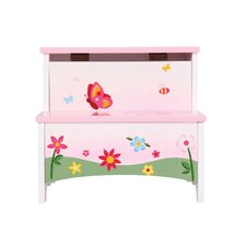 Butterfly Buddies 2-Step Manufactured Wood Storage Step Stool with 200 lb. Load Capacity