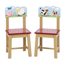 Farm Friends Kids 2 Piece Kids Desk Chair Set (Set of 2)